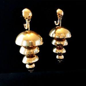60s Napier Goldtone Bell Earrings